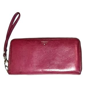 FOSSIL VINTAGE  ZIP AROUND CLUTCH WALLET/WRISTLET